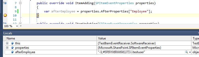 Working with SPFielduserValue in item event receivers - some pitfalls