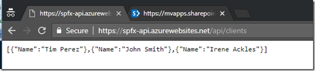 Call Azure AD secured API from your SPFx code  Story #1