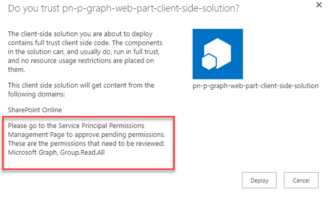 SPFx webpart with MS Graph and PnPjs: step by step guide